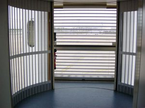 Combination of squential and laterial shutters from FrontSecurity - Superb All Round Visibility