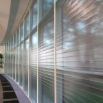 Film Facade System Plisse for Large Glazed Areas