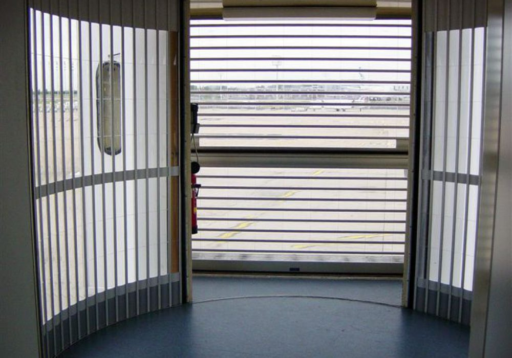 Sequential and Lateral PBB safety shutters closed