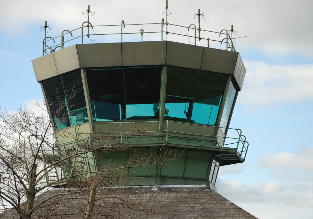Air traffic control tower blinds